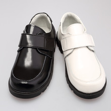 Hot Sale Kids Leather Students Black Children White Dress Show Shoes
