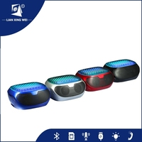 bluetooth led speaker,Fast Delivery Tiny Style Innovation Excellent Sound Hamburger Portable Mini Speaker