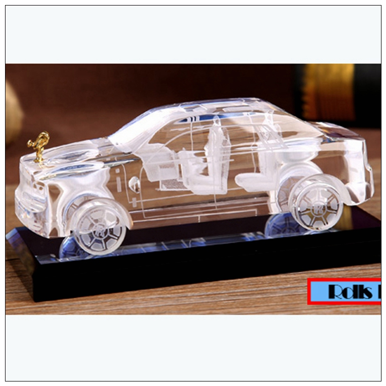 PuJiang crystal supplier 2015 new design handmade crystal glass 3d car model