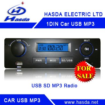 Universal One Din car USB SD mp3 player