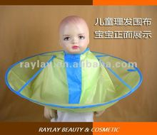 new style waterproof polyester children yellow kid's salon cutting cape for stylist barber