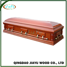 Cheap American style MDF poplar veneer funeral supply best caskets full couch coffins