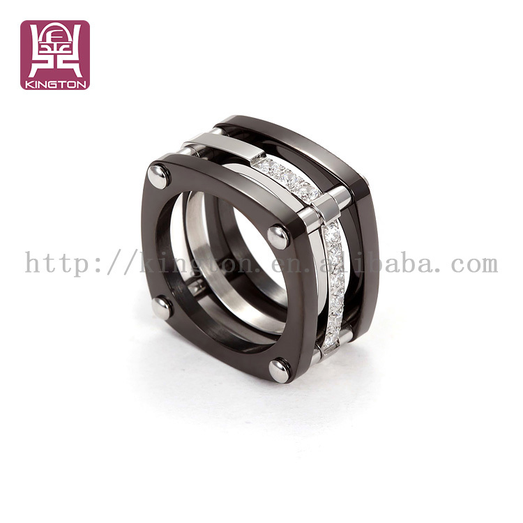 zircon fashion ring wide band platinum ring prices