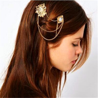 Trade assurance wholesale hair accessories chain indian head jewelry
