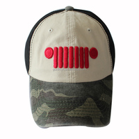 3D Embroidery Six Panels Sport Hats with Camo Brim