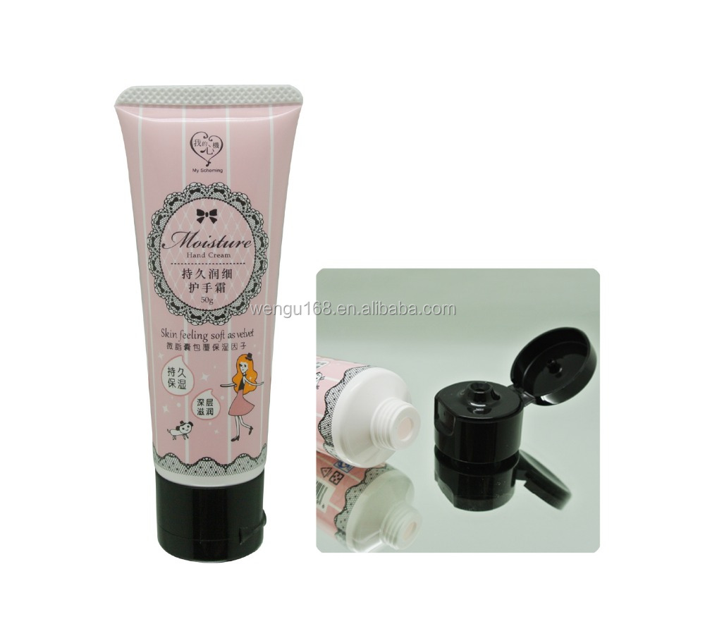 30mm cosmetic soft tube packaging with flip top cap for facial cleanser ,hand cream 30~90ml