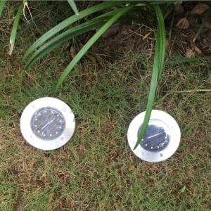Solar Garden Light 5 LED Solar Ground Lights Waterproof Patio Light with Dark Sensing for Lawn Pathway Yard Driveway
