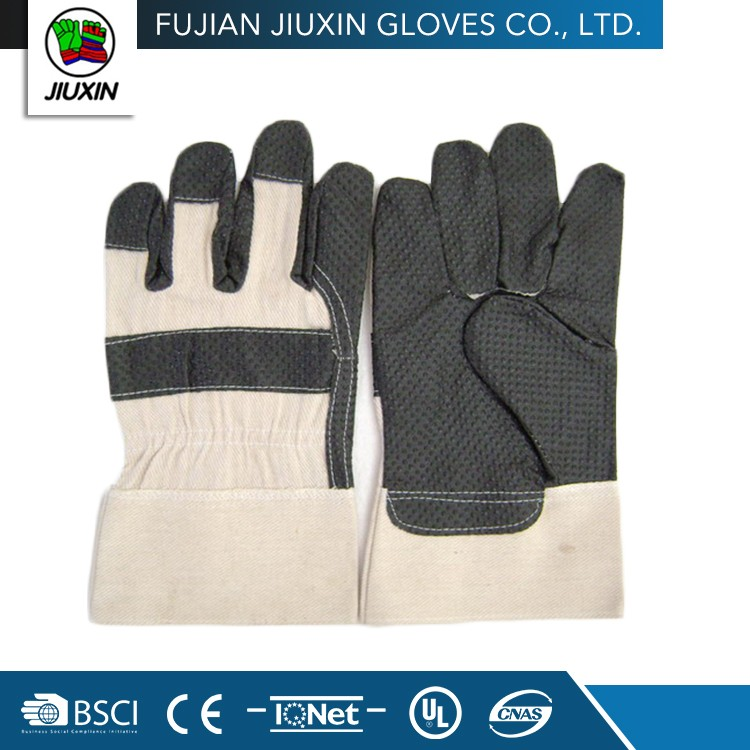JX68A108 Hand Custom-Made Black PVC impregnated working glove