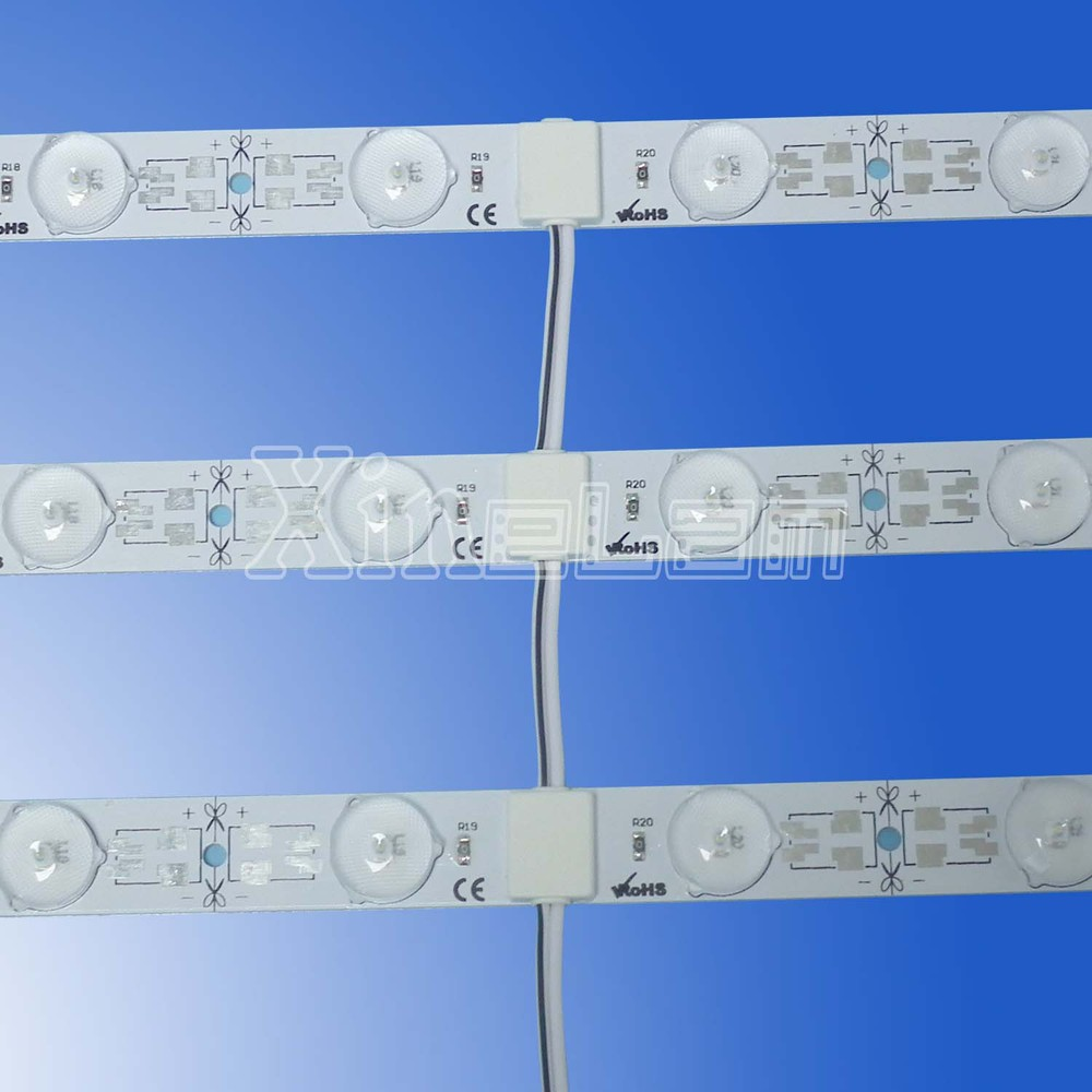 24 V high luminous LED stripe with lens, CRI80