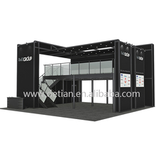 Detian Offer portable aluminum alloy double deck trade show exhibition booth