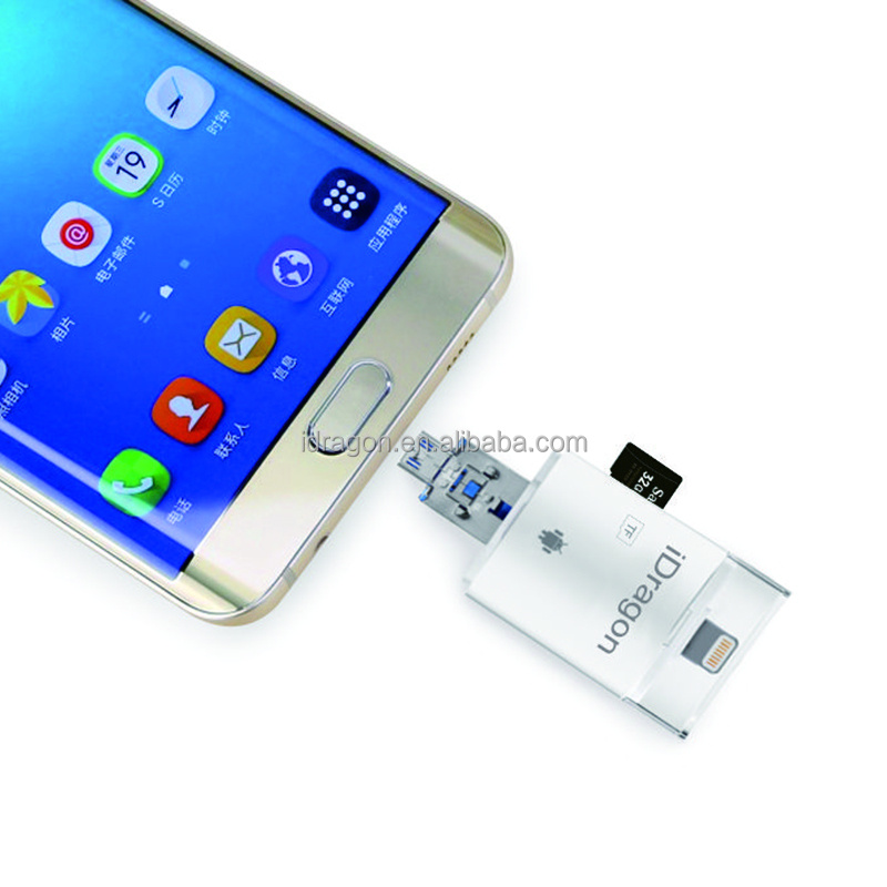 OTG microsd card holder for iPhone for samsung