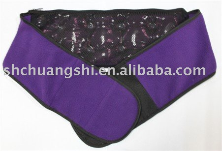 845g reusable lower back heat pack with a purple polar fleece wrap