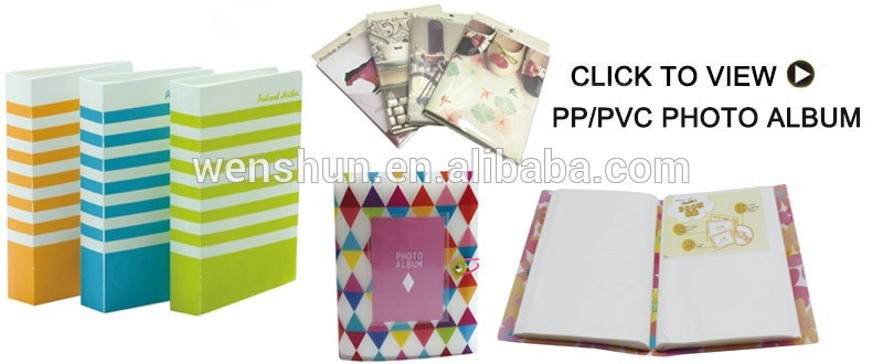 Factory Supply Cheap Plastic Clear Transparent Photo Album
