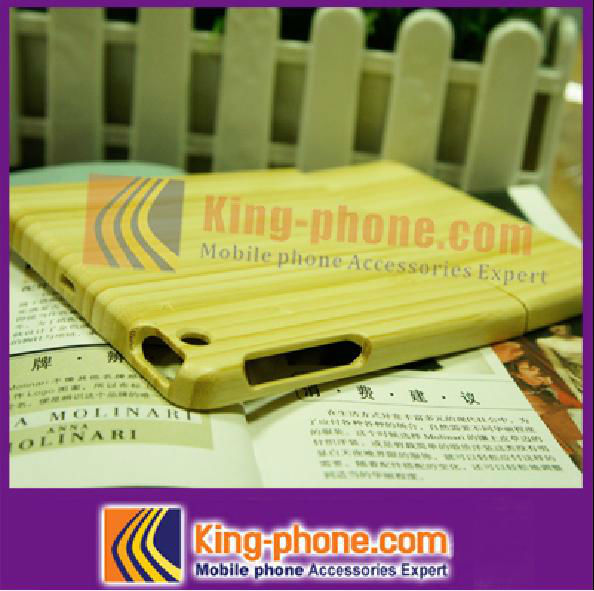 Factory Price !! carbonized bamboo mobile phone case for ipad mini, for Ipad mini stuck down phone cover