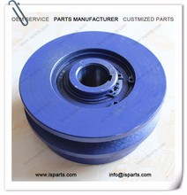 "B type 120mm 1"" bore belt conveyor pulley design centrifugal clutch pulley"