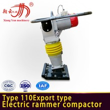 Hot sell power earth sand soil TampingHCD110 electrical compact tamper rammer 3KW motor type vibrator earth rammer