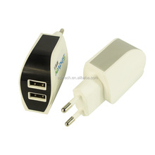 2-in-1 Charger Universal Micro 5v 2a White Dual Port USB Wall Charger for Iphone Charger