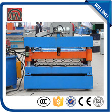 Metal trapezodal automatic steel corrugated roof sheet roll forming making machine