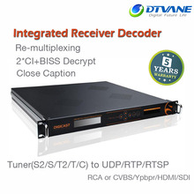DMB-9060A Professional Re-Multiplexing BISS Close CaptionIPTV Decoder IPTV IRD Integrated Receiver Decoder