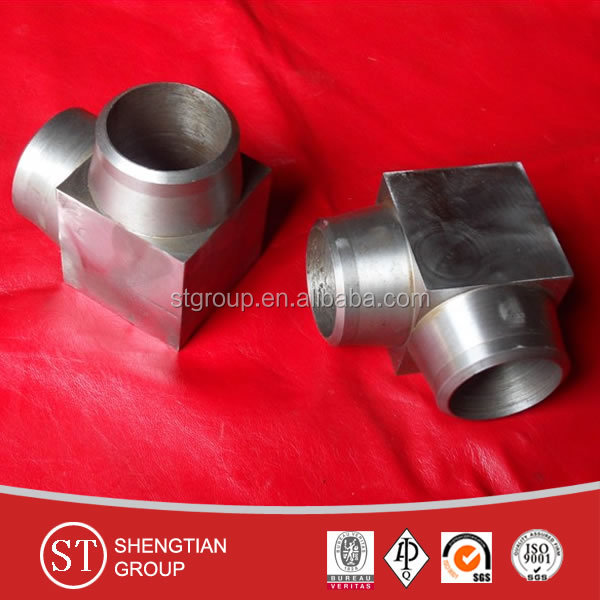 A105 carbon steel ASME B16.11 45/90 elbow sw/bspt/npt forged with high quality