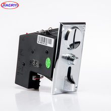 Metal panel coin acceptor with coin operated Timer box