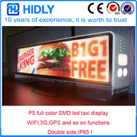 Web cluster control 3G WIFI Taxi Roof LED Sign/ Car Top Display/Taxi Light