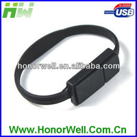 Silicone wristband usb thumb drive bracelet 2GB for hot sell free logo