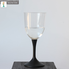 long neck square led goblet plastic wine bottle glass