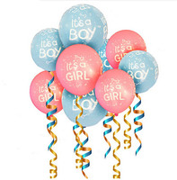 It's A Boy It's A Girl Printed Latex Balloons 12inch 2.8g Helium Balloon Birthday Globos Party Supplies Print Ballon