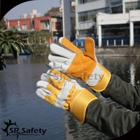 SRSAFETY cowhide split leather rigger work glove