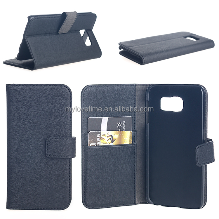 flip pu leather mobile phone case for sumsung galaxy s6 , oem / odm welcomed