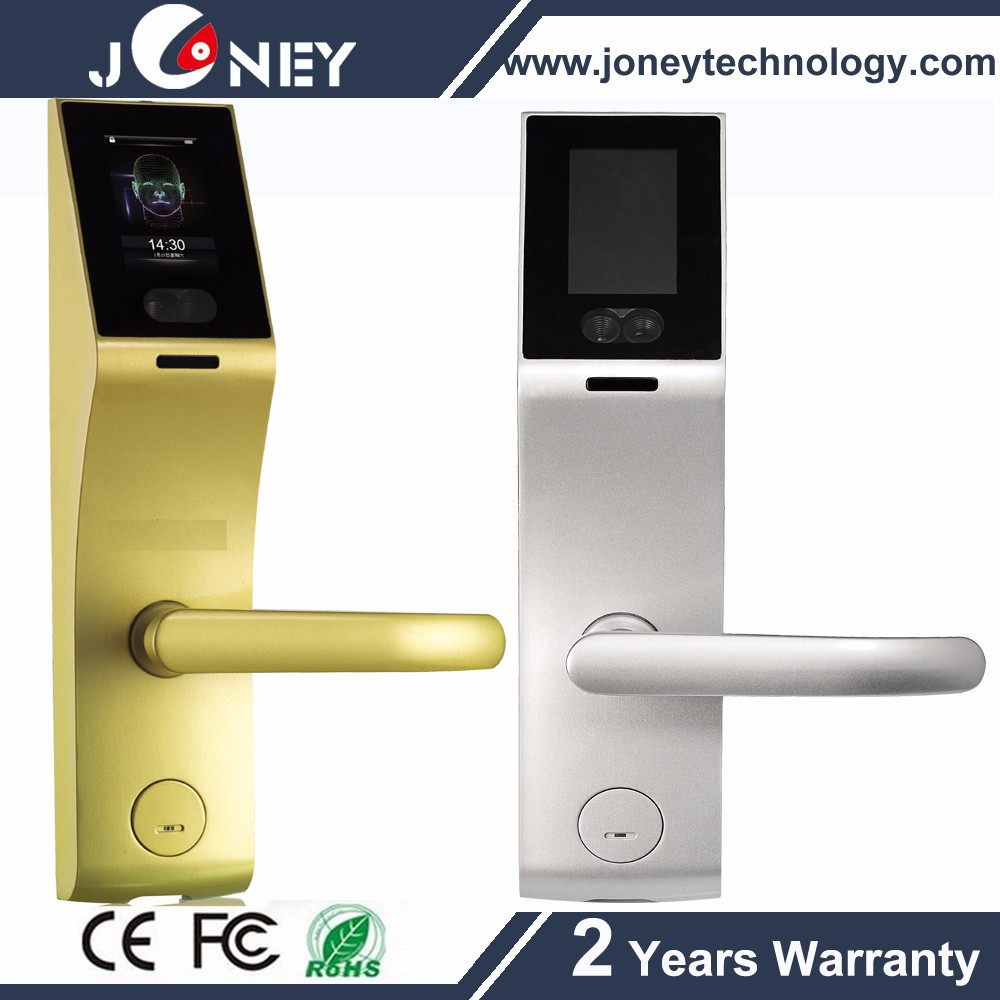 3 inch Capacitive Touch Screen 304 stainless steel face fingerprint door handle lock