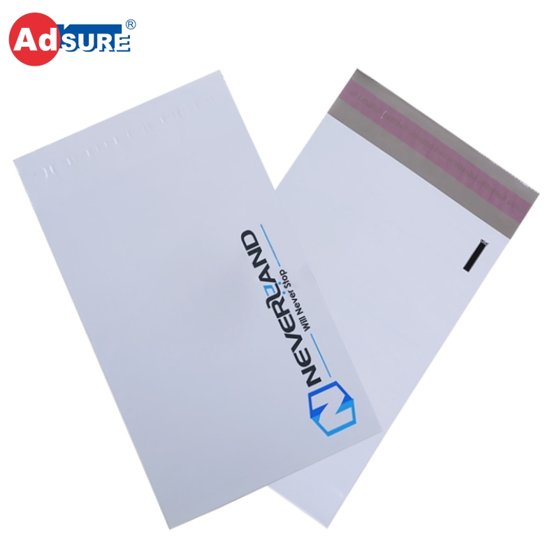 Metallic Gold Hot Stamping Poly Matte Bags Post Matte Satchels Mailing Matte Envelopes With Handle