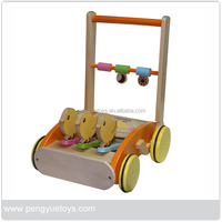 Wholesale Wooden Baby Stroller Bicycle walking toys for baby