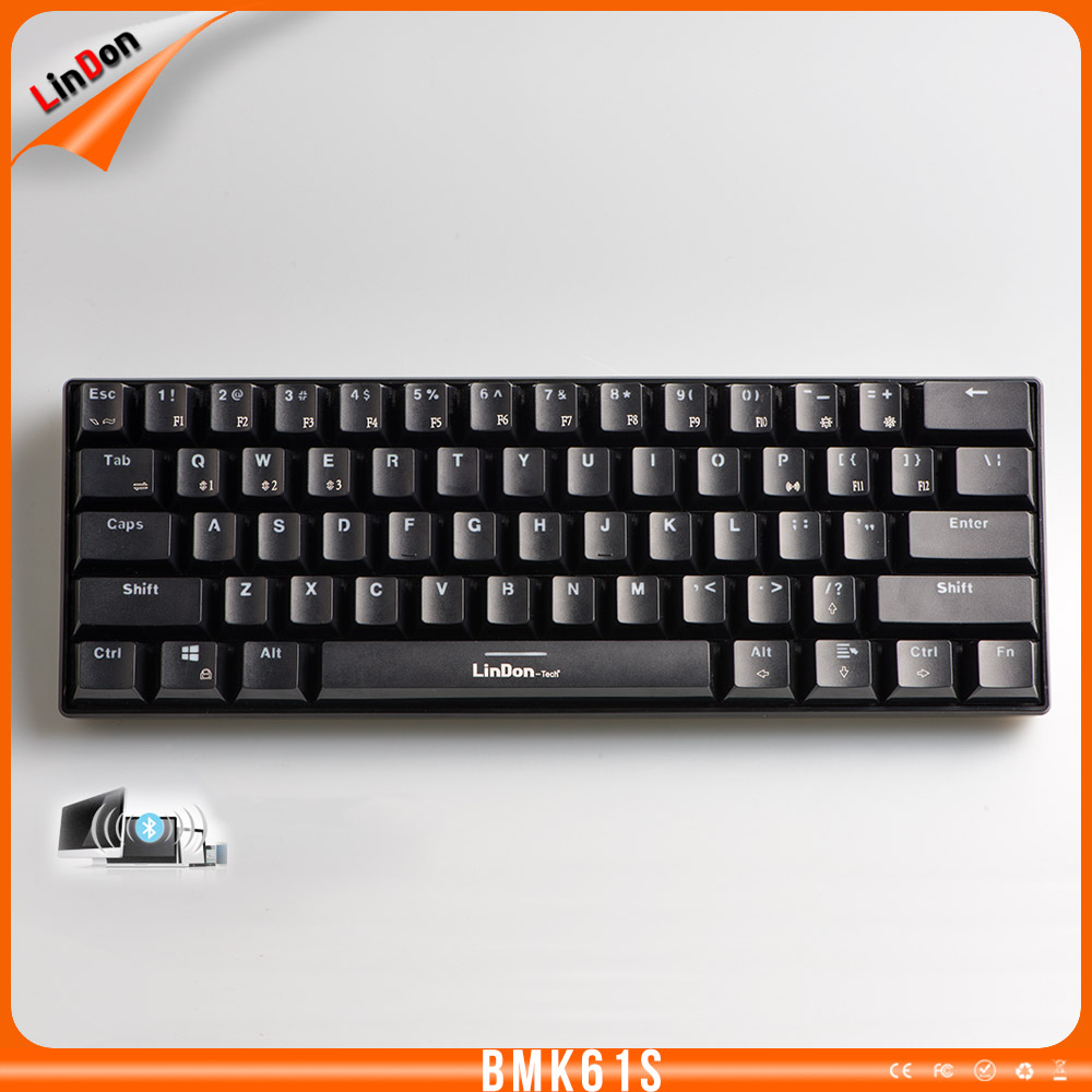 LED Light Bluetooth Gaming Mechanical Keyboard With Professional Switch
