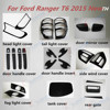 New ABS plastic black accessory for Ranger T6 2015 Thailand new ford ranger matte black kits decorative accessories