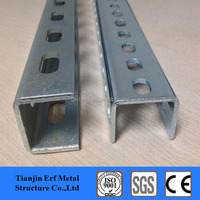 Cold Rolled Steel Profile U Shape Steel Channel Sizes, Galvanized Steel Slotted U Channel Price
