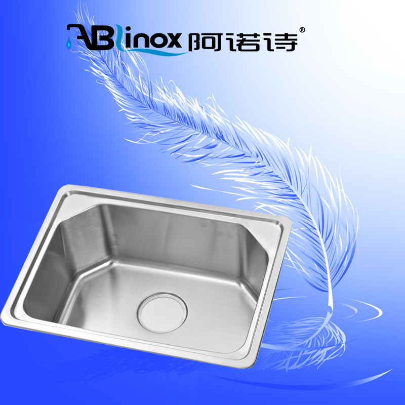304 stainless steel single bowl bathroom washroom sink