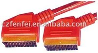 TV scart cable mould type