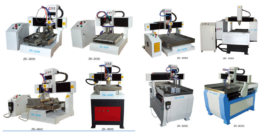 New style Small cnc router metal nameplate engraver machine metal cutting machine 300*300mm