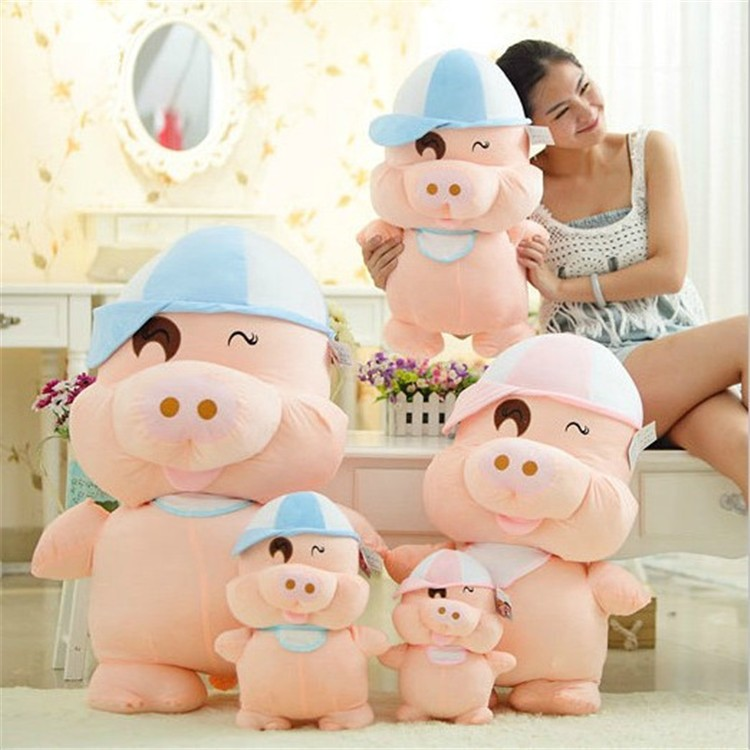 oversized factory custom soft cotton plush toy cute pig doll stuffed animals