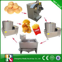 Professional 100kg/h industrial semi-automatic frozen french fries production