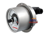 All stainless steel axial electrical contact pressure gauge Gaseous and liquid media