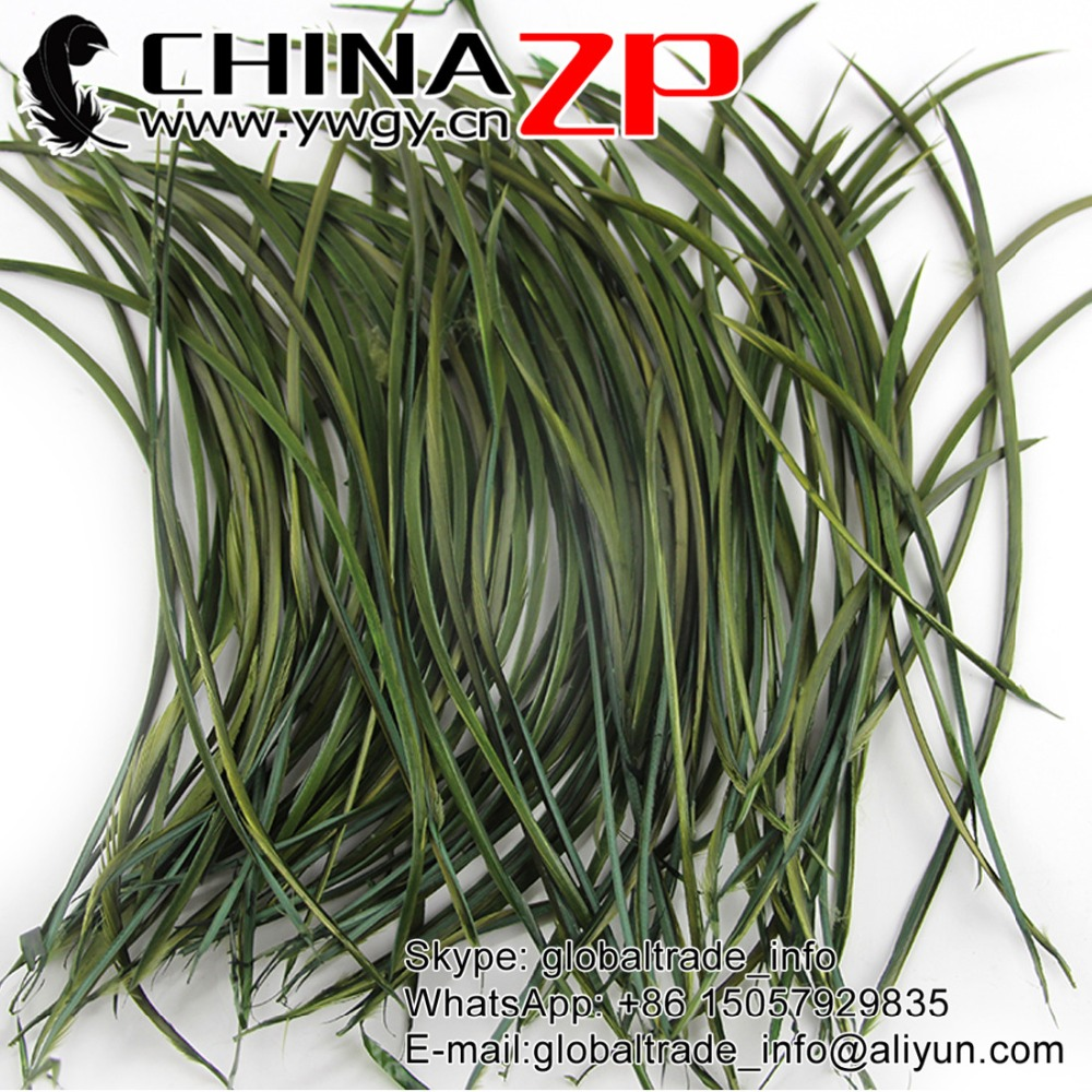 CHINAZP Wholesale Dyed Moss Green Goose Biots Loose Wing Feathers For Sale
