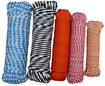 Poly rope/PP monofilament and multifilament hollow braided rope