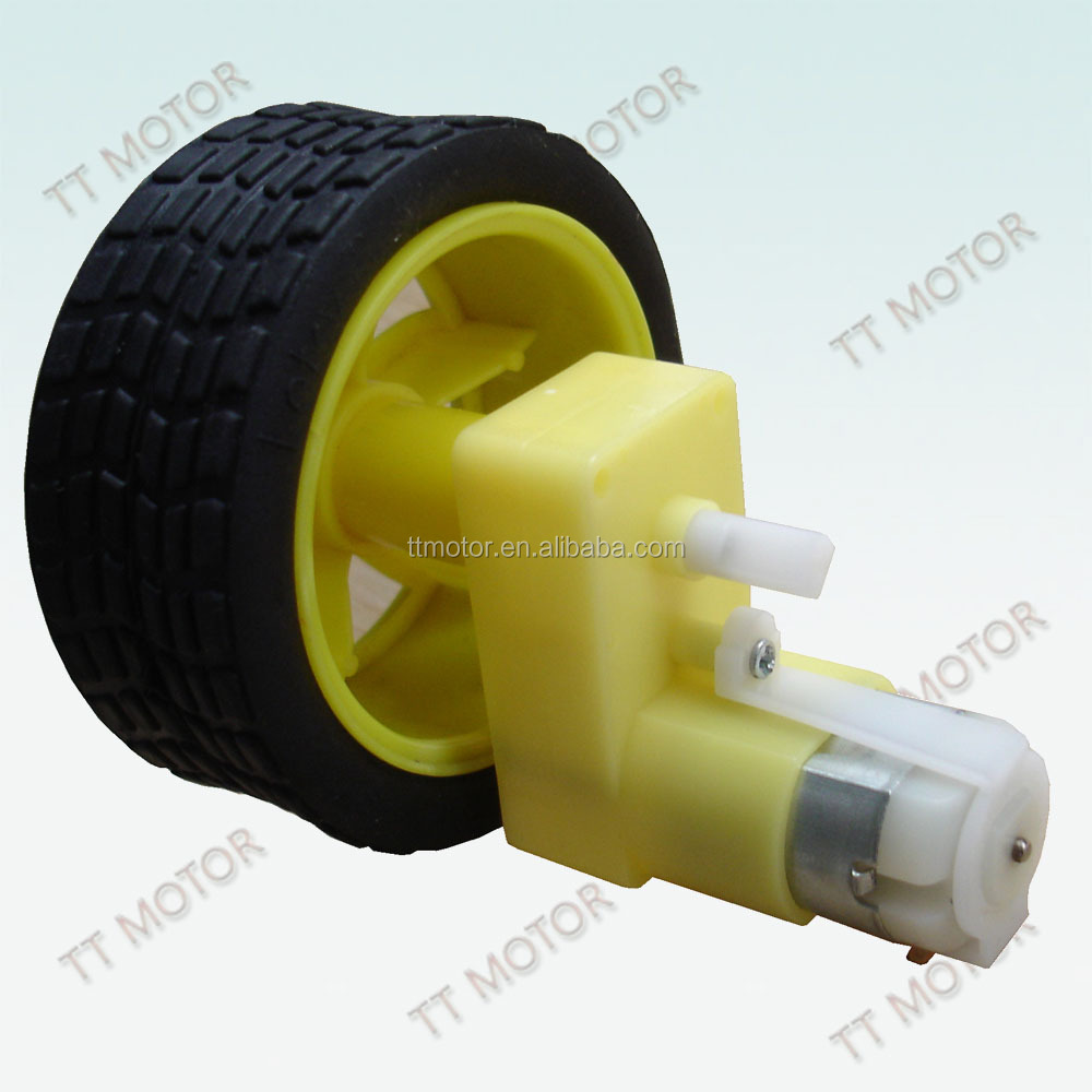 low speed 3v 6v dc electric car wheel motor
