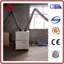 Mobile small footprint solder fume extractor