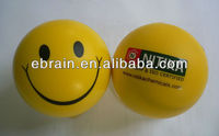PU stress smilely face ball for India market