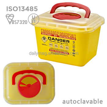 5Liter Plastic Medical Safety Container