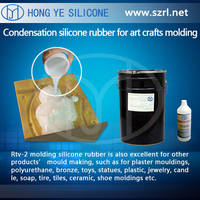 liquid silicone rubber for plaster casting cornice mold with hardener